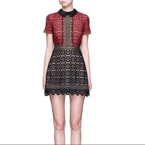 NWT Self-portrait crochet lace mini dress